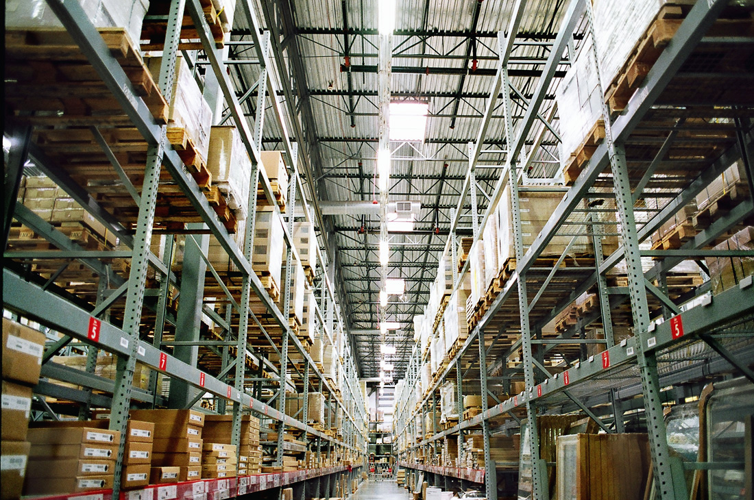 Inside Ikea warehouse