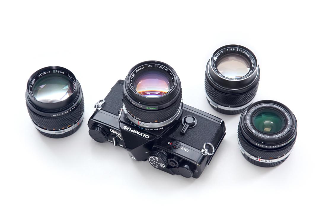 Olympus OM-2, Zuiko 50mm 1.4, Zuiko 28mm 2.8, Zuiko 100mm 2.8, Zuiko 85mm 2.0