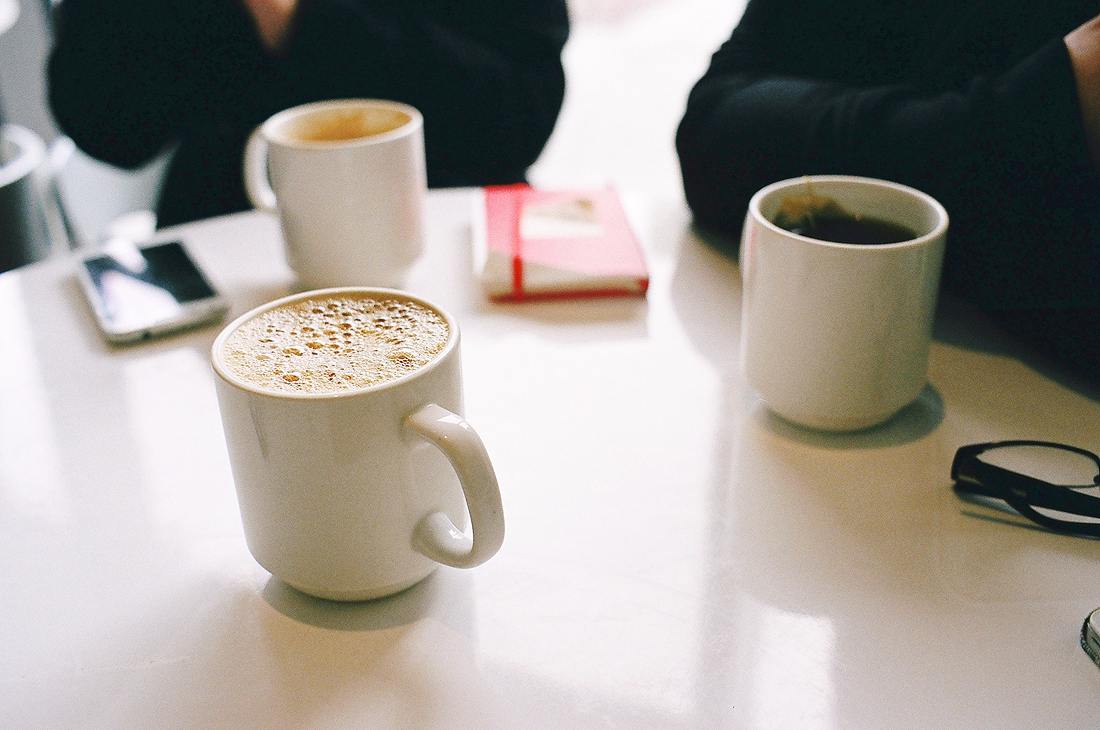 Fresh cups of coffee