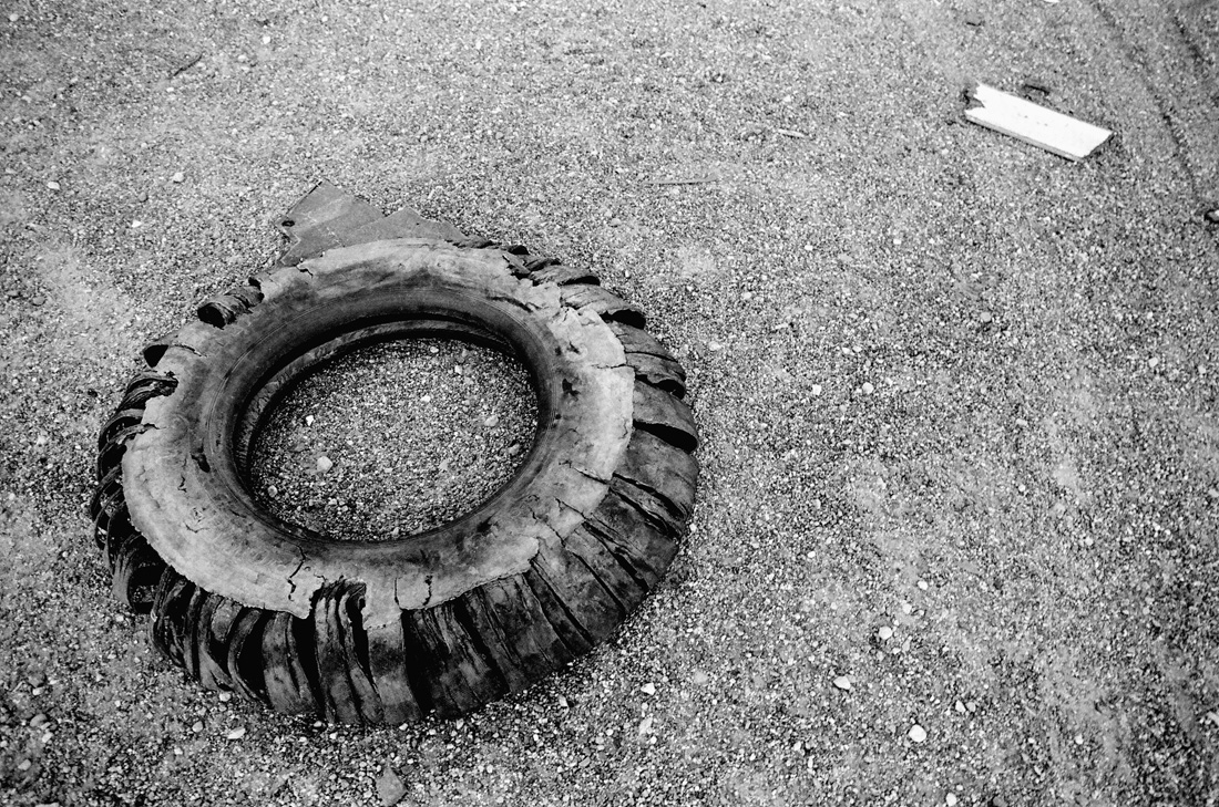 Old Tire in the Desert