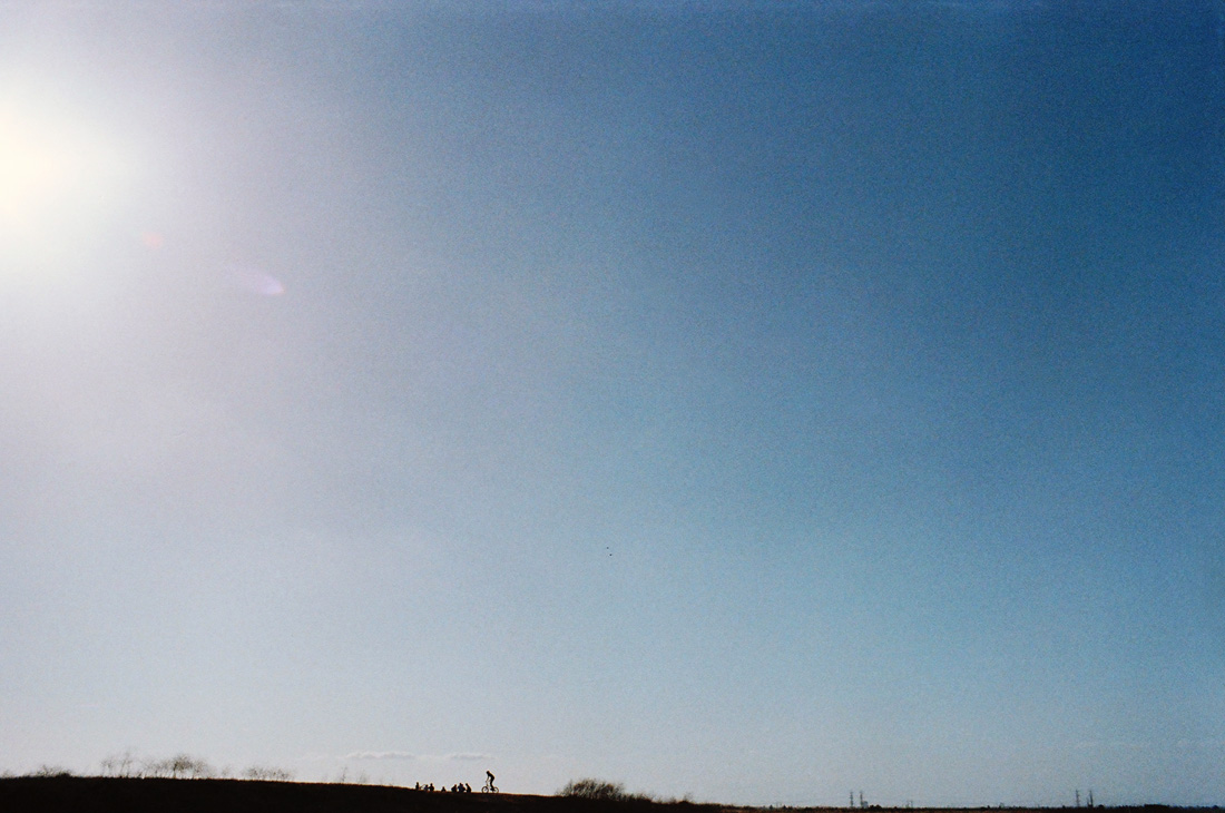 Blue skies riding bikes