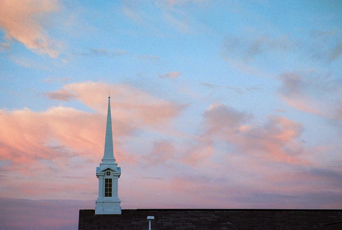 Church Steeple at dusk