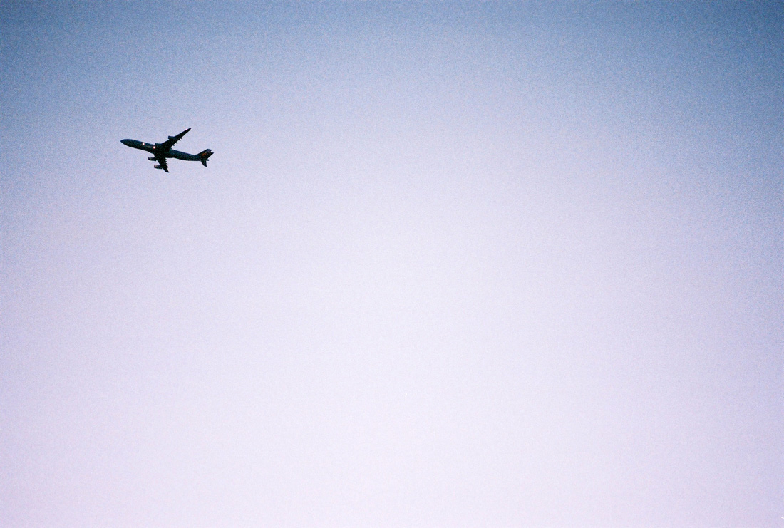 Plane flying up