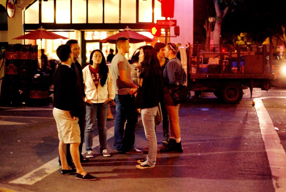 Downtown San Luis Obispo at night